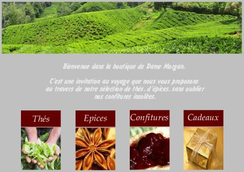 dame morgan : épices/aromates , thés/plantes et confitures dans Adresse damemorgan