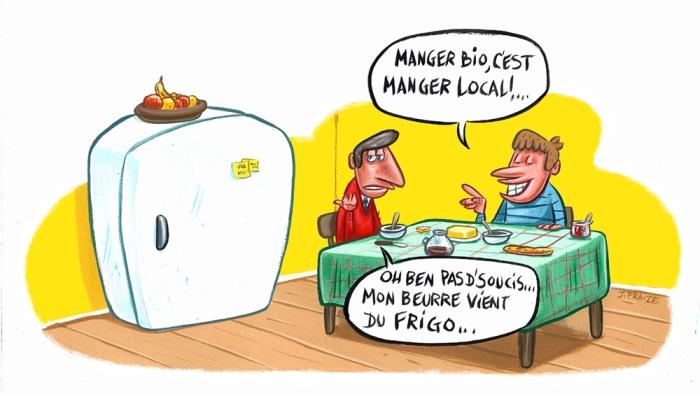 Manger Bio, c'est manger local ! ... dans humour mangerbiolocal