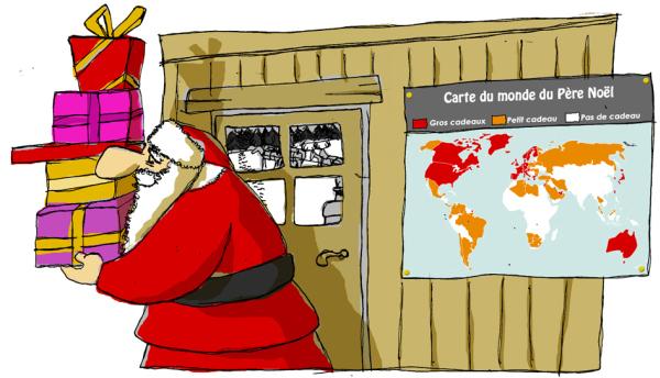 Carte du monde du Père Noël dans humour noel_2012_blog
